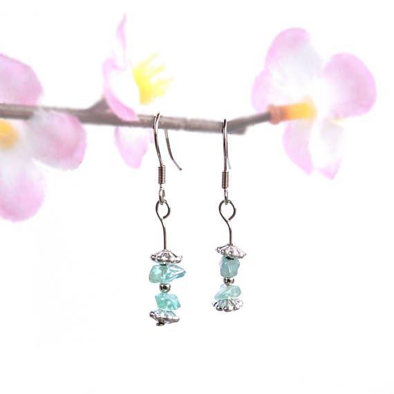 Dainty earrings blue apatite jewelry blue crystal earrings https://www.etsy.com/listing/221207675/dainty-earrings-blue-apatite-jewelry