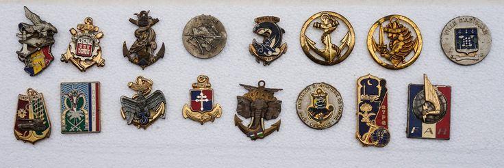 Ensemble 16 Insignes Infanterie Marine Commandement Soutient Beret MANTA DAGUET | eBay