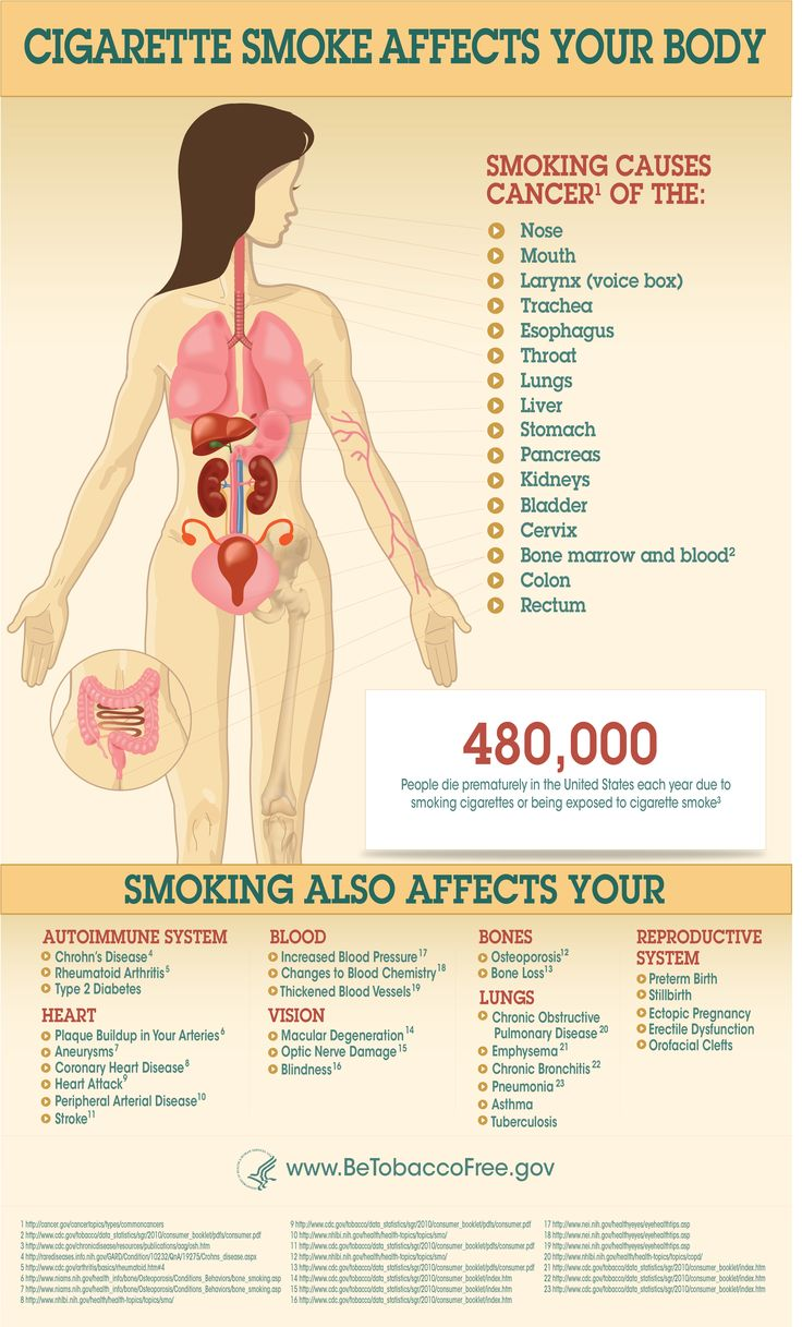 ideas about effects of cigarette smoking infographic showing how smoking affects the body for a text version of the information