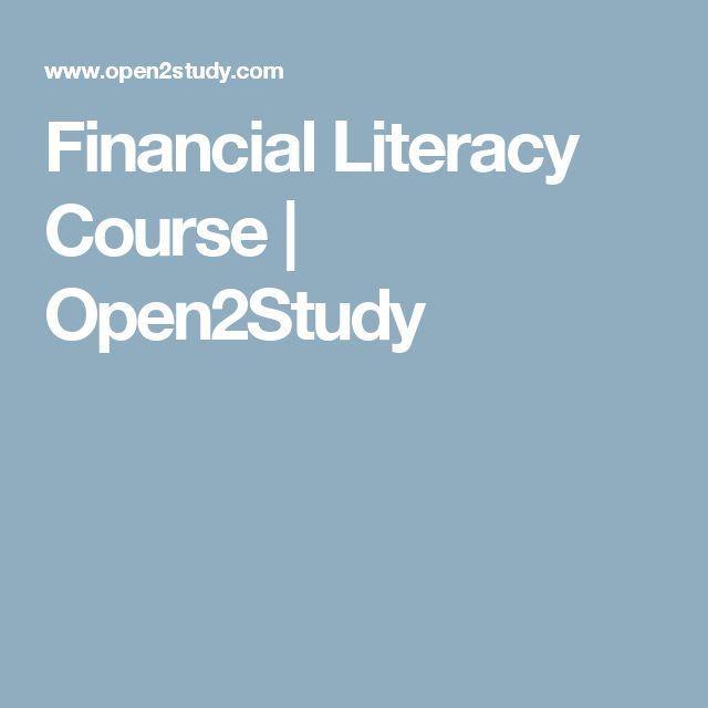 Financial Literacy Course   Open2Study