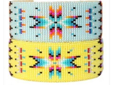 In dieser Anleitung zeigen wir Dir, wie Du mit Hilfe eines Perlen-Webrahmens ein hübsches Perlenarmband mit Indianer-Muster selber machen kannst.
