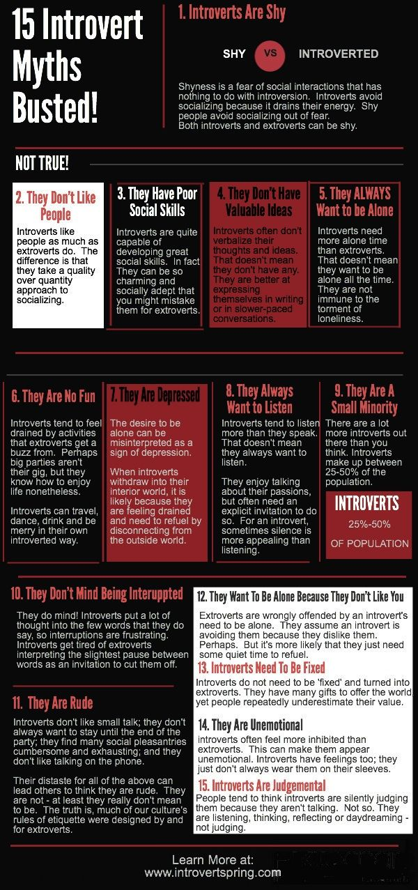 15 Introvert Myths Busted Infograph