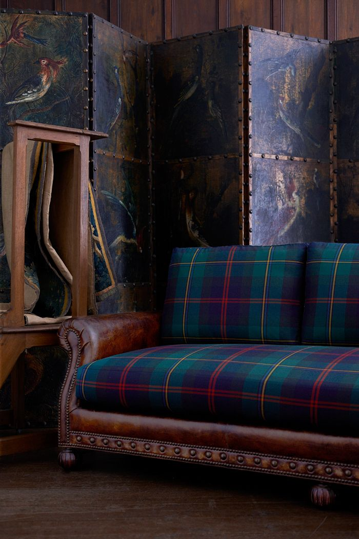 The Aran Isles Sofa--which I think is simply stunning!  Saw a version of this idea of cloth cushions on a leather sofa in a home designed by the late John Marsh Davis...