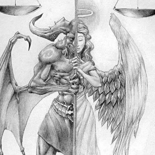 Angel Michael Defeats Lucifer Tattoo The archangel oil michael