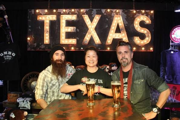 Fast and Loud's castmembers Aaron Kaufman, Sue Martin and Richard Rawlings at Discovery Channel's Fast N' Loud Live Clip Show Watch Party at Gas Monkey Bar and Grill on Jan 13, 2014