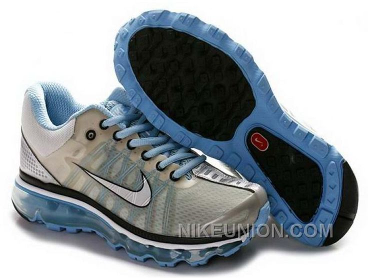 http://www.nikeunion.com/nike-air-max-2009-id-light-blue-black-grey-for-sale.html NIKE AIR MAX +2009 ID LIGHT BLUE BLACK GREY FOR SALE Only $59.17 , Free Shipping!