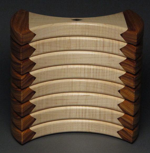 Boîte à bijoux uniques en bois Tarara et érable madré par watswood