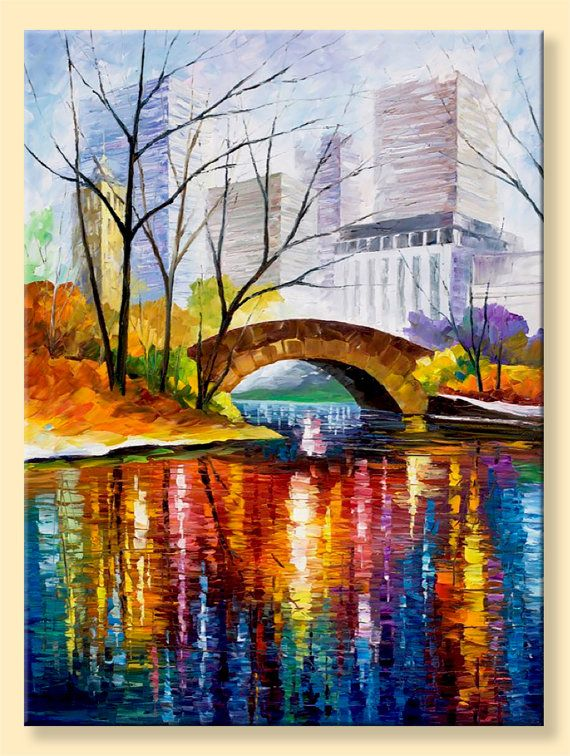 Central Park — Limited Edition New York  Wall Art Print On Canvas By Leonid Afremov.     #MondayMorning