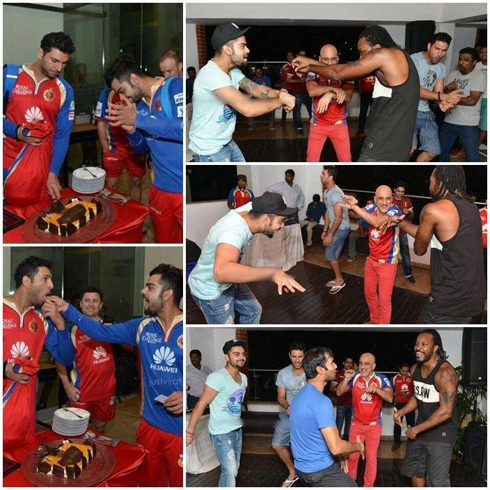 VK (RCB) parties after winning the match against Delhi Daredevils - IPL May 2014!!