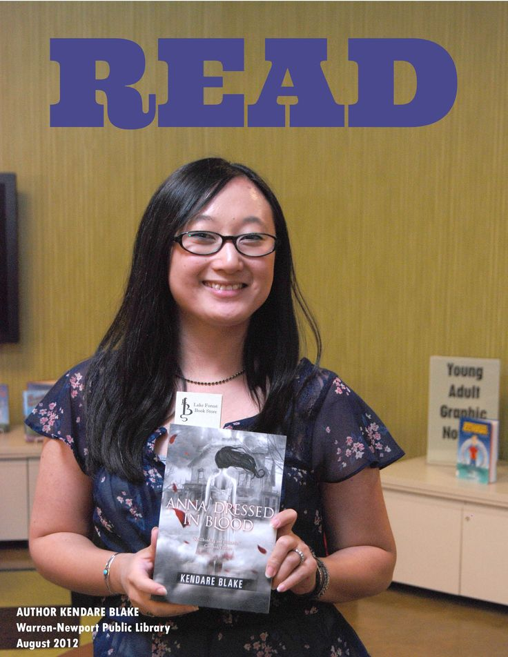 """Kendare Blake visits Warren-Newport Public Library in August 2012.  She is the author of """"Girl of Nightmares,"""" the follow-up to her wildly successful debut """"Anna Dressed in Blood."""""""