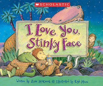 One mom wrote that both of her children claim I Love You, Stinky Face as their favorite book, even though one child is 7 years old and the other is only 20 months. The story takes place at nighttime, as a child tries to delay going to sleep by asking his mom whether she would still love him if he were a variety of scary and yucky critters.