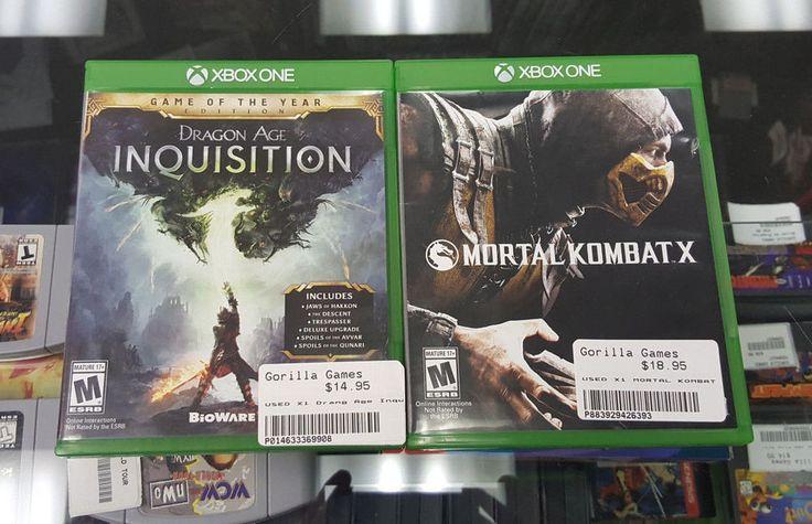 Dragon Age Inquisition GOTY & Mortal Kombat X (Microsoft Xbox One)