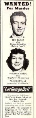 Bob Bailey and Virginia Gregg, Let George Do It, 1952