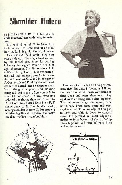 1950's Wardrobe-The Shoulder Bolero | Flickr - Photo Sharing!