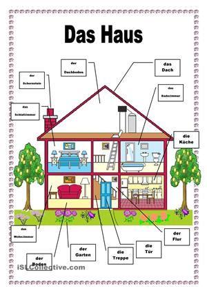 das haus haus arbeitsbl tter und druckvorlagen. Black Bedroom Furniture Sets. Home Design Ideas