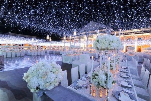 Night in Paris themed wedding