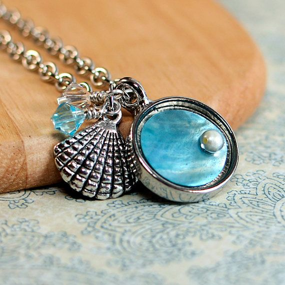 Resin Faux Crystal Wire Wrapped Pendant Necklace Diy: 139 Best Jewelry: Seahorses, Shells, Starfish, Beachy