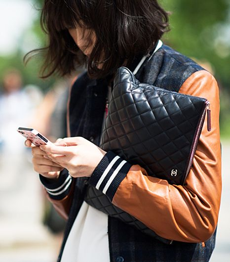 Street Style with Adam Katz Sinding / Chanel quilted clutch