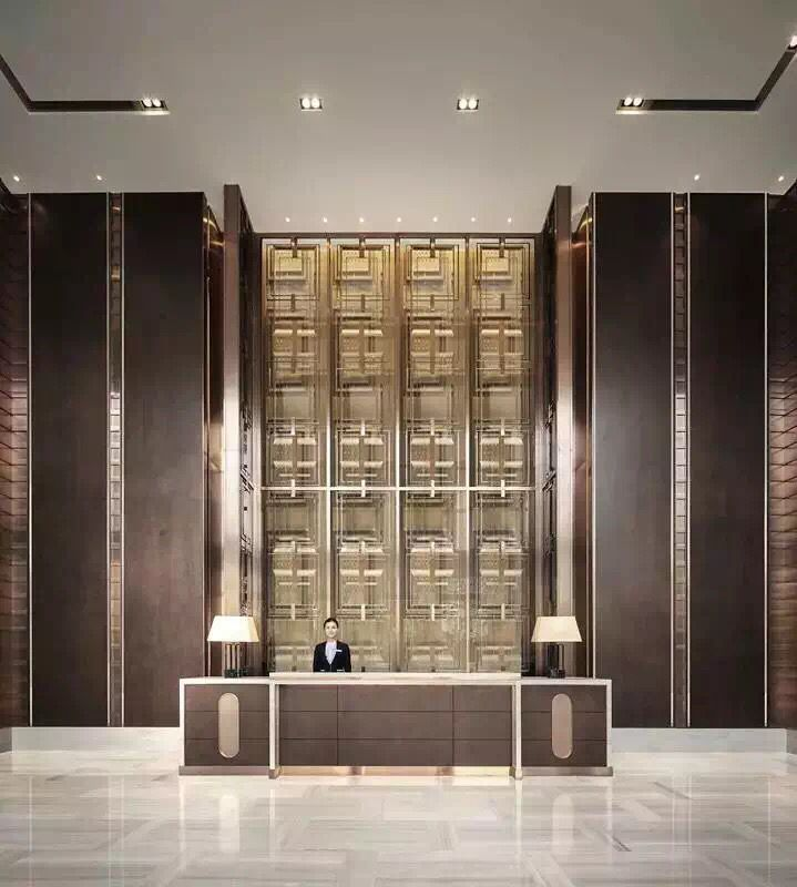 Oriental hotel lobby design