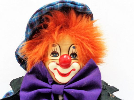 Vintage Clown Doll German Clown by LaBoutiqueDeValentin on Etsy