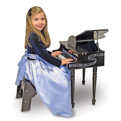 GRAND PIANO- PIANOFORTE PER BAMBINI CON SGABELLO- 30 TASTI