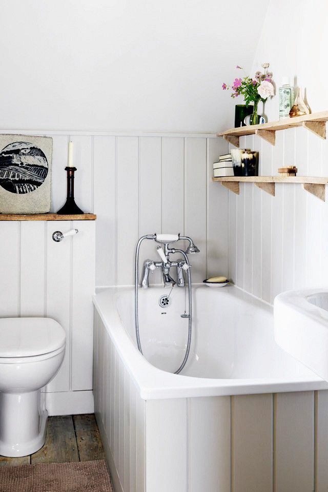 White bathroom with wainscotting 384 best Bathroom