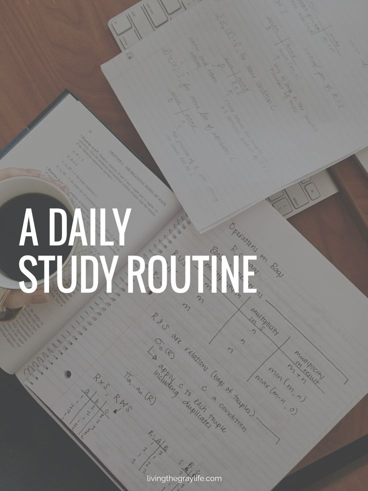 how to set up a study schedule for college