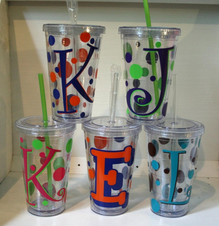 Personalize Your Own Double Wall Insulated Tumbler with Lid and Straw. $10.00, via Etsy.