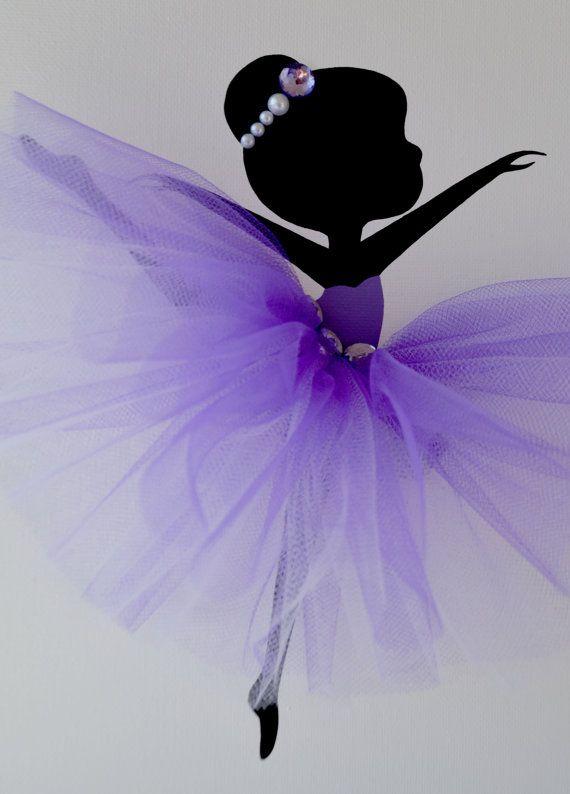 Ballerina Wall art. Purple lavender and white nursery.