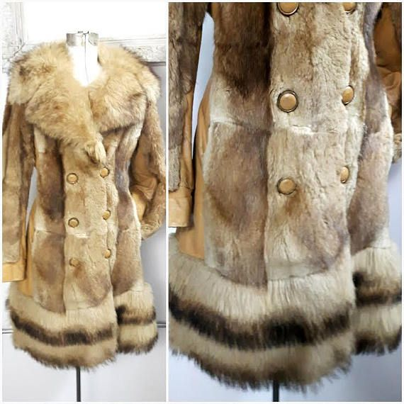 Vintage 60s Russian Princess Golden Fox Fur Coat Almost