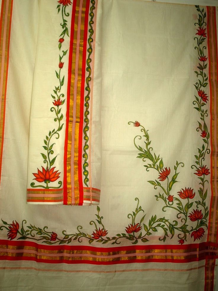 VEDA COLLECTIONS: SET MUNDU Mural painted