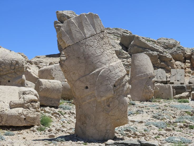 Close up rock god Nemrut Dagi E Turkey