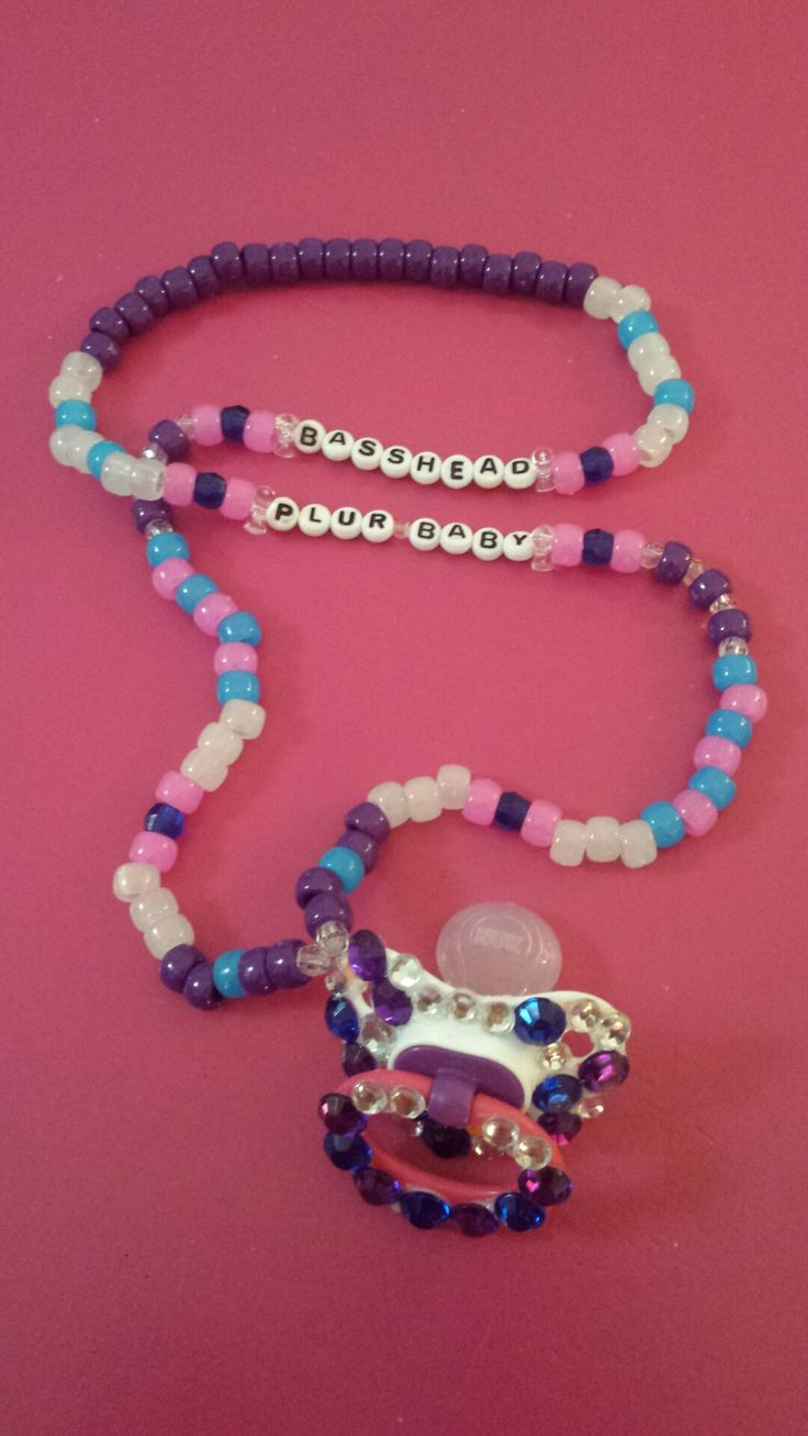 Rave Kandi Pacifier Necklace