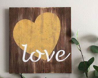 Love you more wood sign love sign home decor by LittleSouthernOwls