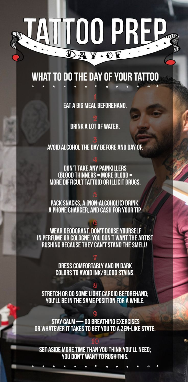 What to do the day of your tattoo.