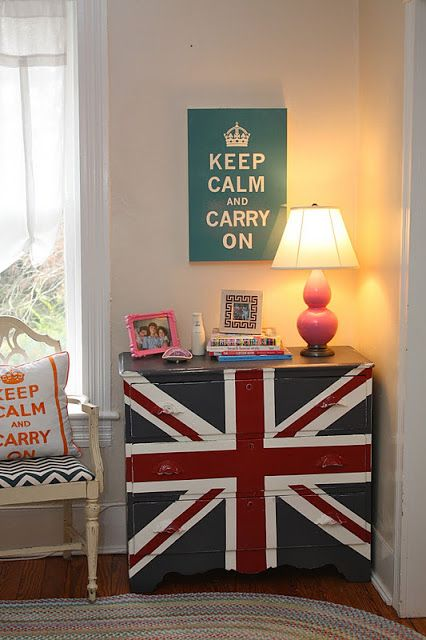 THE UPSTAIRS HALL AND A UNION JACK DRESSER! | My Old Country House