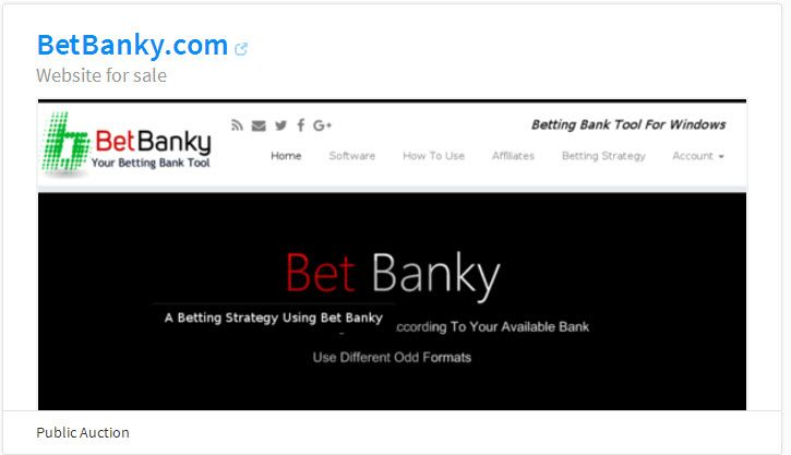 Betting Software Ownership & WebSite With 979 uniques/mo Making $19/mo (2 sites). BetBanky.com website for sale on @flippa! https://flippa.com/6210964-betbanky-com