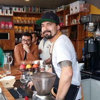 This guy is the best barista in Colombia and he's on his way to the world championships this week! Mauricio Romero will be representing Colombia - and Colombian coffee - to the world in Dublin.  @azaharcoffee @wcoffeeevents  #coffee#cafe #Bogota #Colombia #coffeecompetition #coffeecompany #barista #coffeeeducationteam #coffeeincolombia #flavorsofbogota #specialtycoffee  bit.ly/1ncJgFY