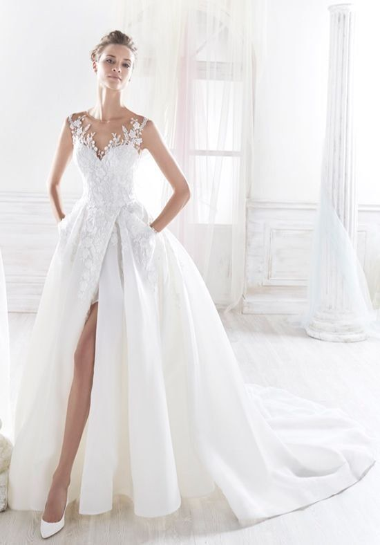 206 best Wedding Gowns with High Leg Slits images on Pinterest ...