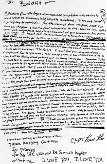 Kurt Cobain Murder Scene | cobain s suicide note full transcription the final phrase before the ...