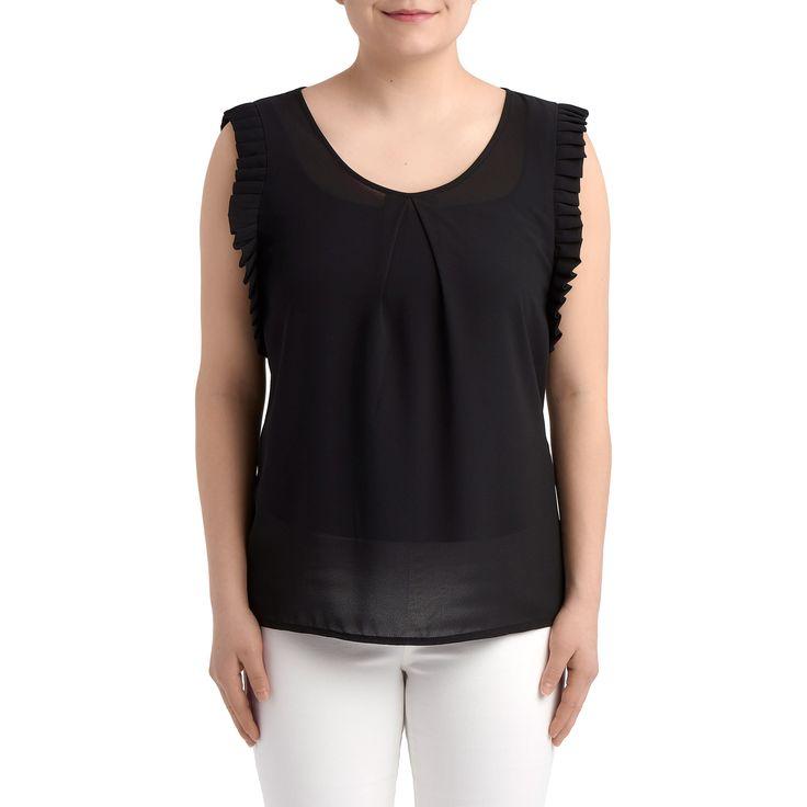 GINGER Top by Molly Bracken - Basic top - Black spring-summer top - Black t-shirt - Forevermlle.com online store