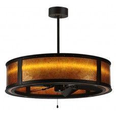 "Chandel Air Fans w/ Lighting : 36.5"" Wide Smythe Craftsman Chandel-Air-Fan with LED Lighting - #114822"