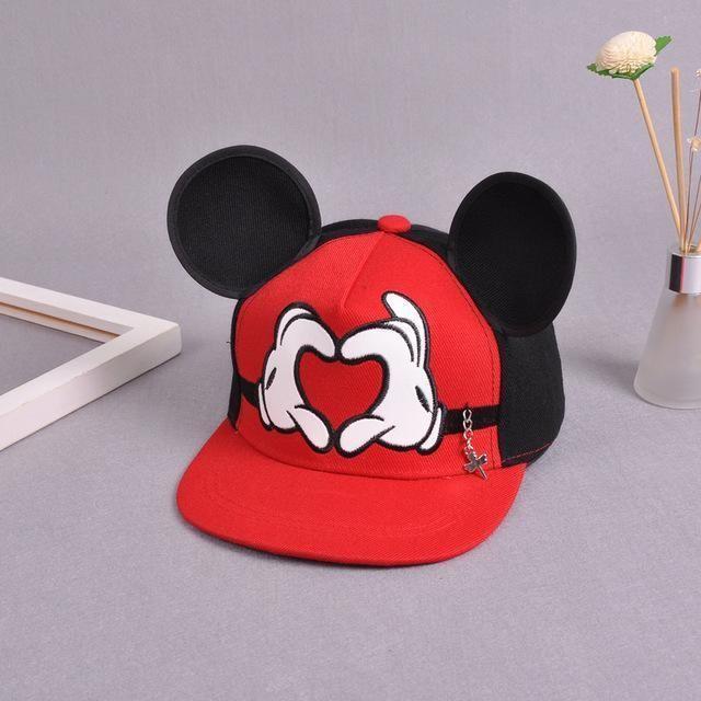 Kids Boy Girl Cartoon Mickey Mouse Baseball Cap Hip-Hop Snapback Adjustable Hat
