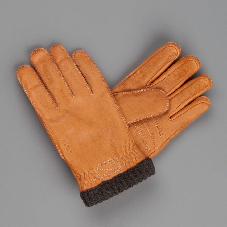 hestra primaloft rib gloves in deerskin cork
