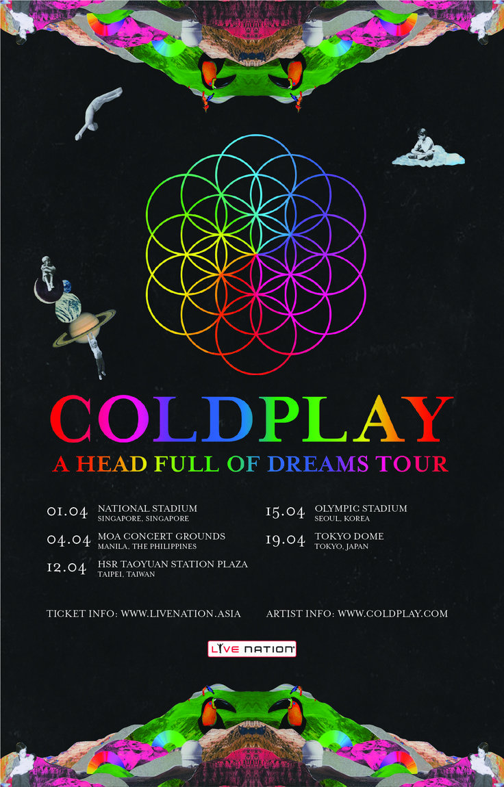 Coldplay Asia Tour 2017