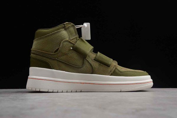 Buy Air Jordan 1 Retro High Double Strap Olive Canvas Shoes in 2019 ... c5b696fcb