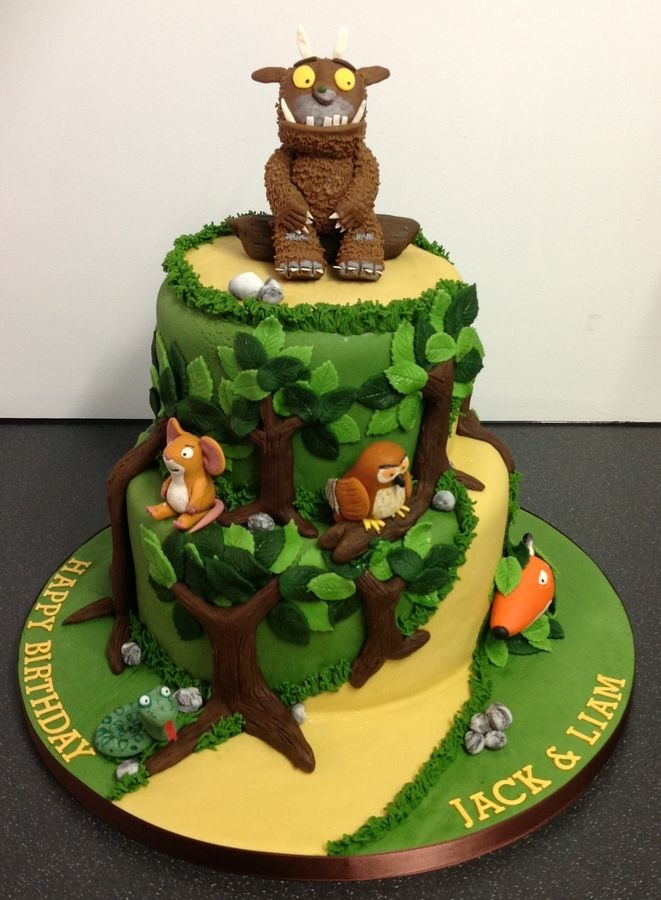 Grufalo Forest Cake. Liam announced this is better than minion cake! :)
