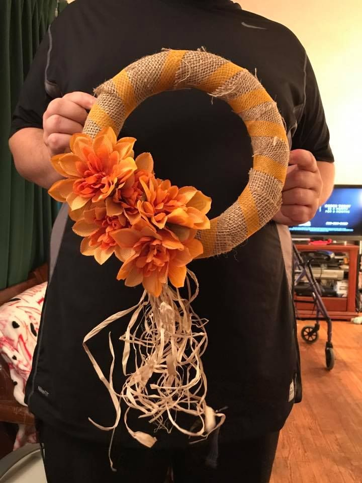Dollar Store DIY Harvest Wreath Fall Home Decor