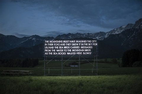 Loegang Poem, Austrian Alps by Robert Montgomery