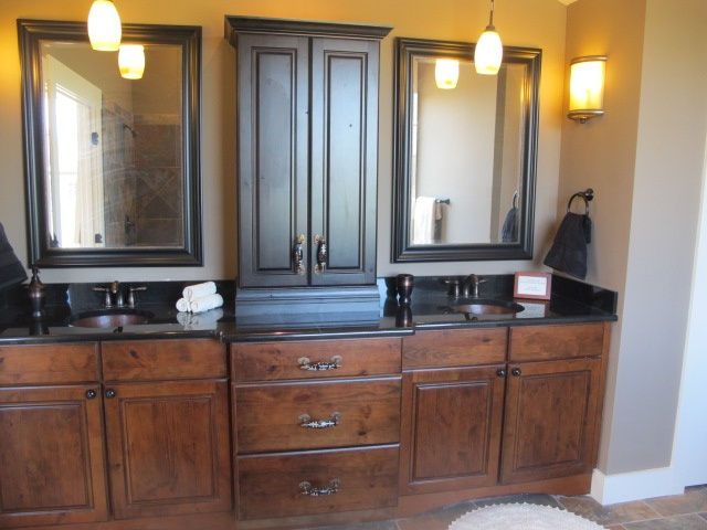 Alder Cabinets, Black Granite, Copper Sinks, Luxe Homes And Design,  Knoxville Builder